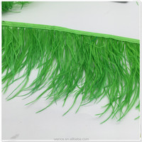 wholesale dyed ostrich feather trimming /fringe for halloween costumes decoration.