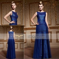Wholesale Coniefox New Arrival Royal Blue Sleeveless Formal Dress for party