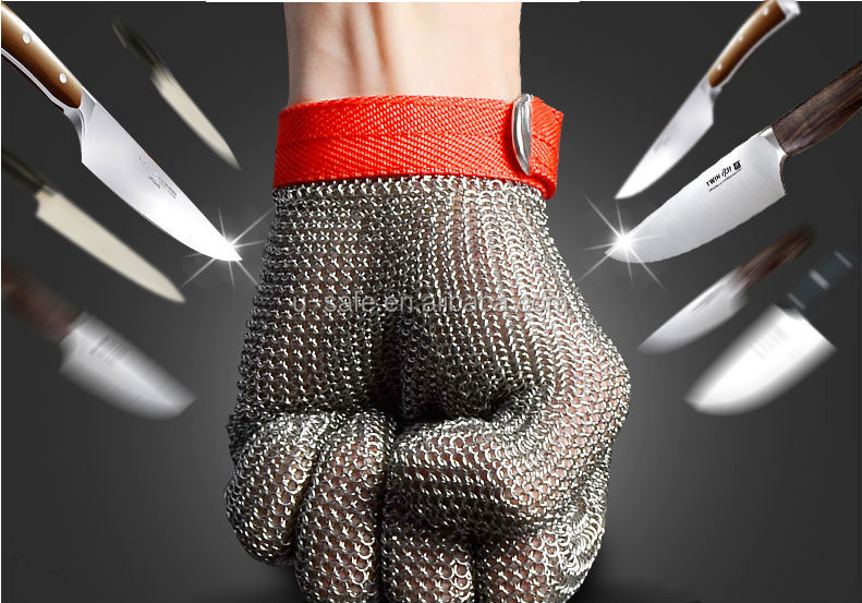 Safety equipment hardware tools Stainless Steel Mesh Butcher Glove