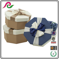 Wholesale classic silk ribbon prism storage case gift box with lid