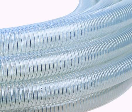 Steel Spring Reinforced Clear Polyvinyl Chloride PVC Steel Wire Hose