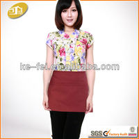 Polyester and Cotton Three Pockets Restaurant uniform Apron