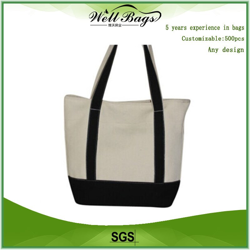 Promotional cheap recyclable eco shopping cotton bag , canvas travel bag