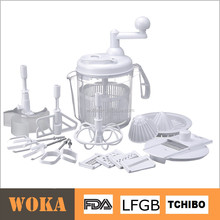 new design rotary manual vegetable and fruit grater salad spinner
