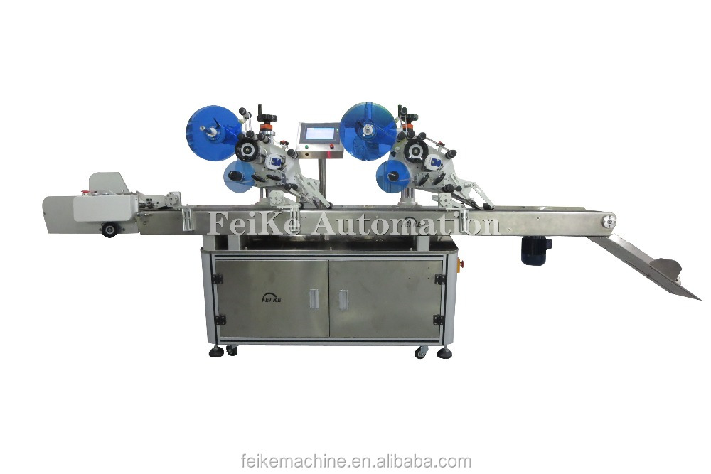 FK813 Automatic Double Header Card Labeling Machine Adhesive Labeler