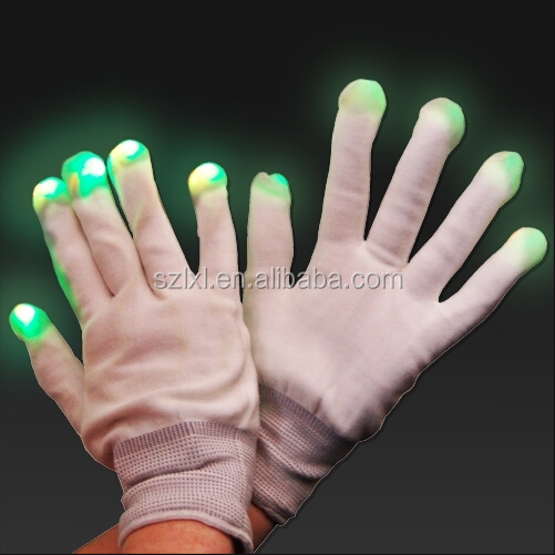 Neon LED Magic Gloves /Multi-color Flashing LED Gloves for dancing or party