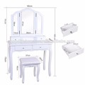 Guangdong factory white simple design Modern dressing table with drawers