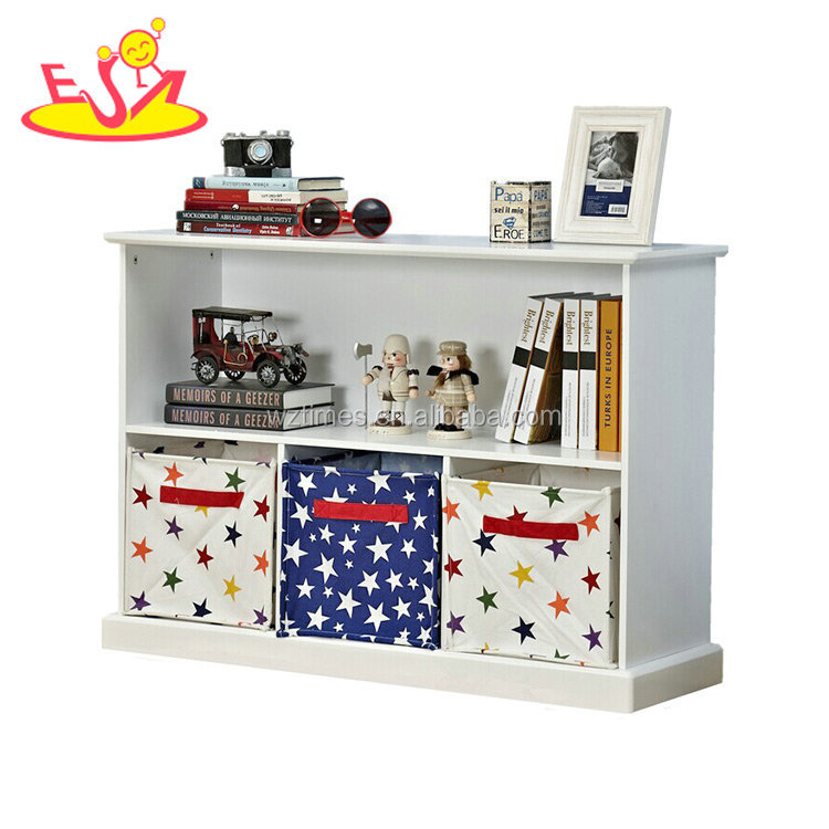 Wholesale New design wooden kids toy organizer for bedroom sale W08C239
