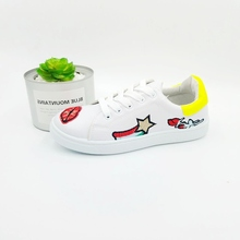Children PU Canvas Shoes Girls Boys Classic Fashion Sneakers Summer Autumn Style Kids Flat Causal School Shoes
