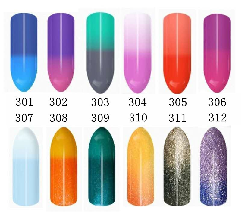 China wholesale chameleon nail polish gel glaze temperature color change uv gel nail polish