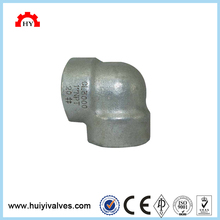 Stainless steel 304 high pressure forged steel female thread 90 degree elbow