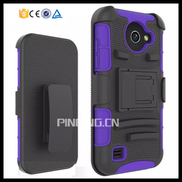 3 in 1 heavy duty belt clip holster case for huawei union y538 , hybrid armor kickstand case for huawei union