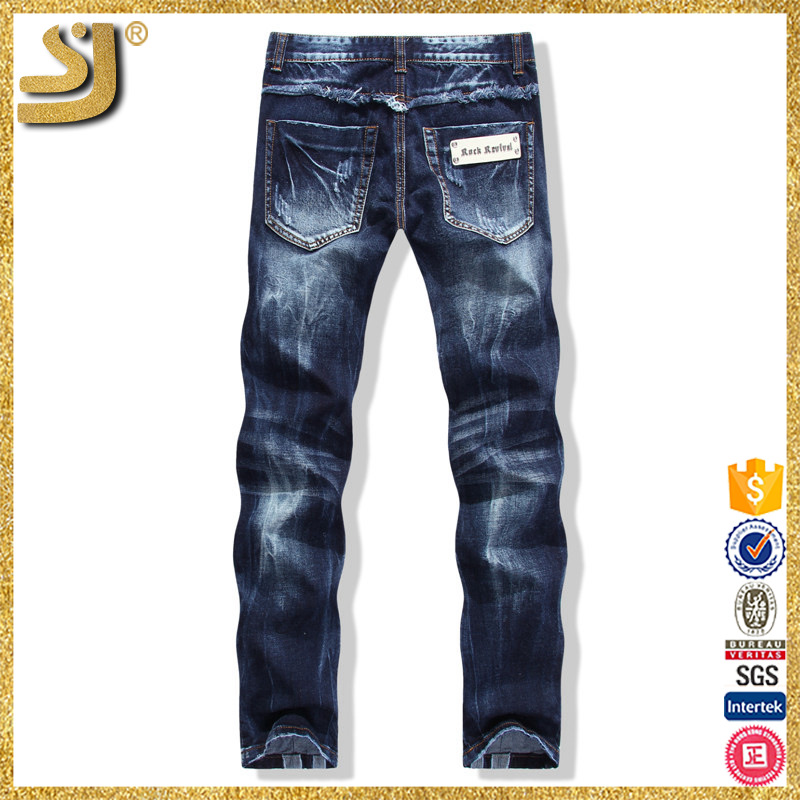 Short Time Delivery New Style Jeans Long Pent Men Ripped Biker Jeans For Men