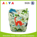 ALVA Baby Dinosaurs Pattern Washable Nappies China Cloth Diapers Factory