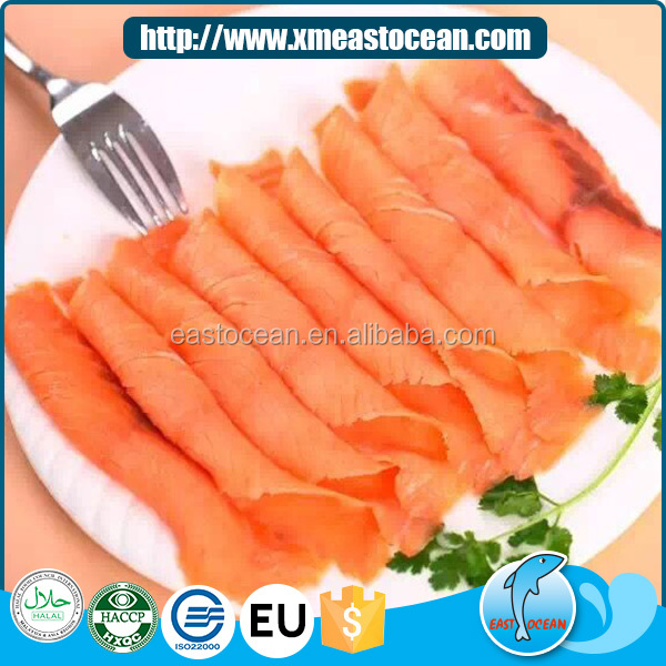 Factory wholesale smoked delicious frozen vacuum packed salmon