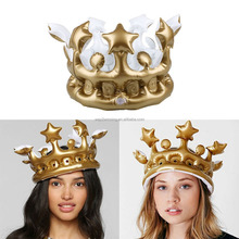 Novelty Inflatable Queen Crown The Day Party Toy Dress Up Princess Birthday New