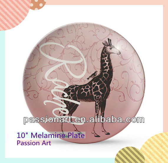 Animal Design candy container Kids melamine Plate