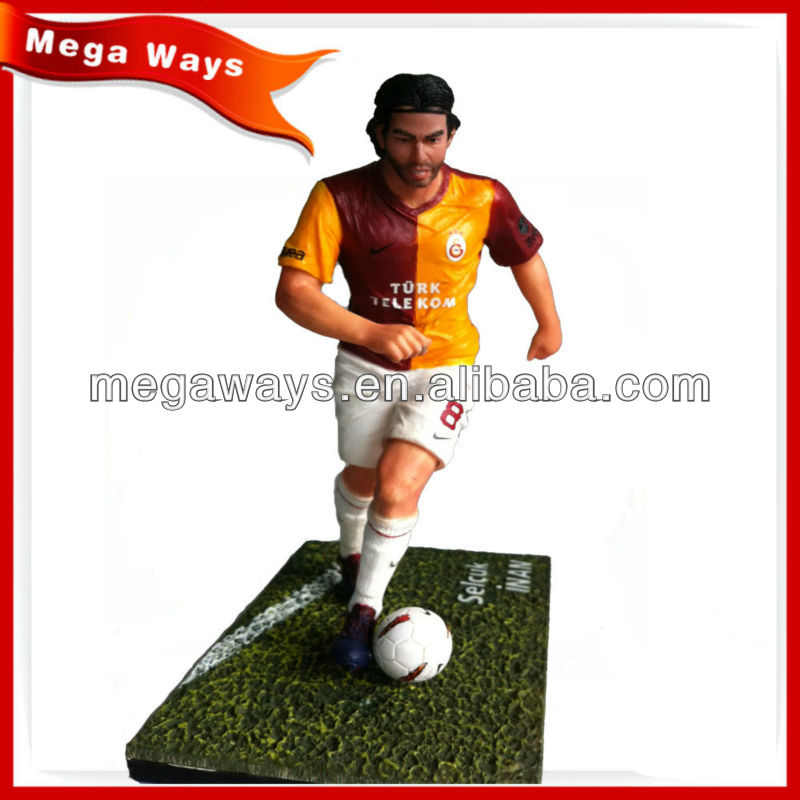 realistic PVC 3D custom soccer player action figure for collection