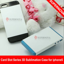DIY Card Slot Series 3D sublimation phone case for Iphone 5