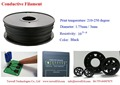 Torwell 3D Printer Conductive ABS filament,ABS PLA Fiament,1.75mm,3mm 1kg/spool