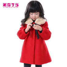 2014 Latest Design Guangzhou Kids Clothing Factory A-Line With Fur Collar Winter Coat Children