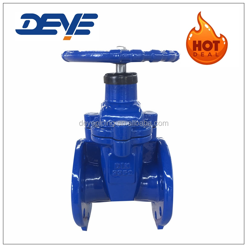 Ductile Iron EPDM Seat Back Seat Heavy Type Gate Valve with DIN3352-F4 PN10 PN16