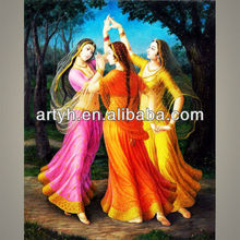 Indian girls dance 2013 new arrival painting supply
