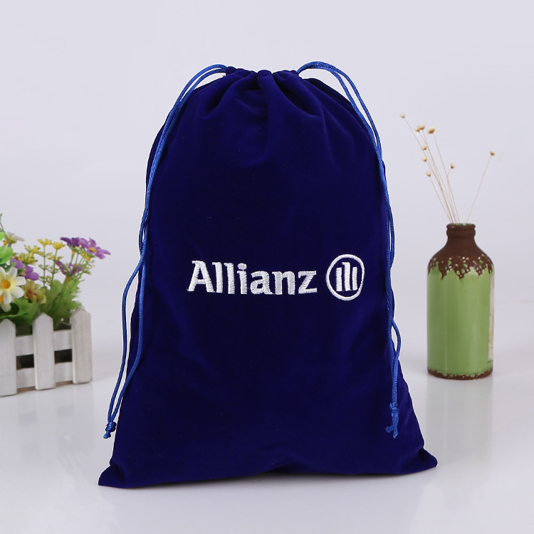 Velvet Bags Royal Blue Drawstring Pouches