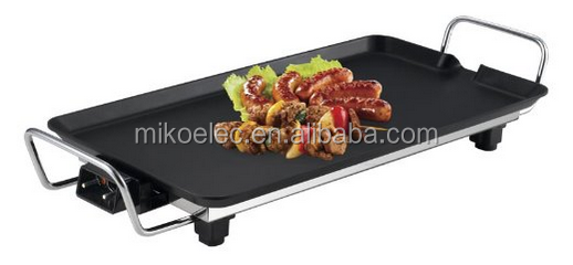 hot Plate, Electric BBQ Grill pan Pizza Pan, Non-stick Grill