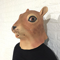 Design Your Own Online Animal Head Halloween Mask Squirrel mask realistic latex mask