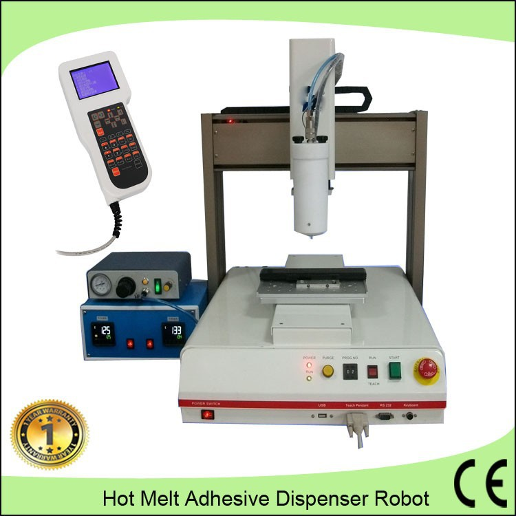 Labor saving bench top glue dispensing robot