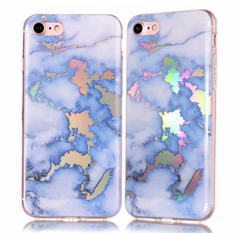 Phone Cover for iPhone 7 , for iPhone 6s Chrome Marble Case, Granite Phone Case for iPhone 8