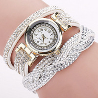 Fashion Colorful Lady Leather Wrist Watch