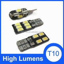 Factory price led 5630 chip auto lamp T10 smd car bulb light, t10 5w5 car led for car
