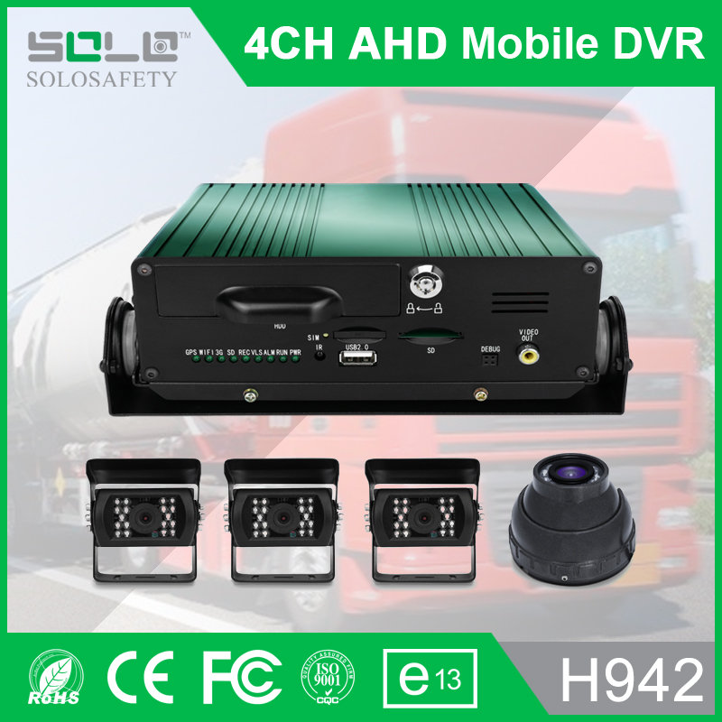 Factory direct 4 channel 720P 3G vehicle DVR