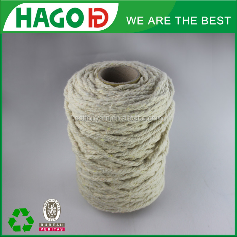 fast delivery 80% cotton 20% polyester oe sky blue Africa dyed hottest exporter anti-fading regenerate/recycle cotton yarn
