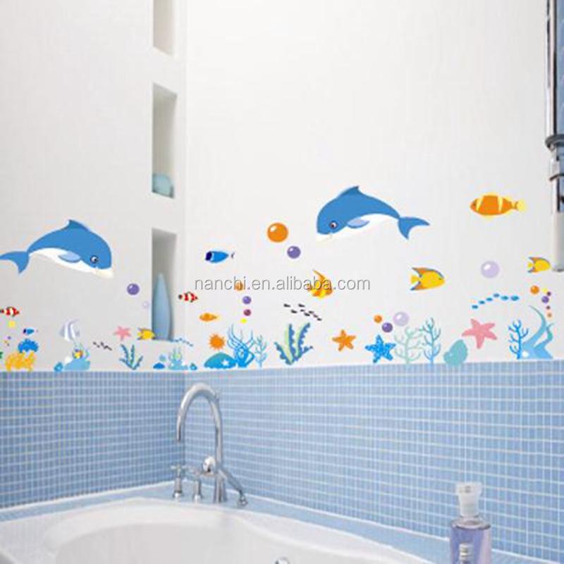 Рисунок на стенах в ванной своими руками 902