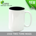 Wholesale 15oz Two-Tone sublimation Mug/Sublimation Photo Mug/Colorful Ceramic Mug