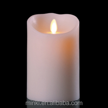 2014 MINKI flameless led candle with timer function