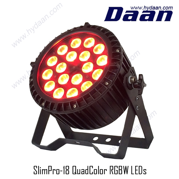 Outdoor Slim Flat LED Par 64 with 18 x 10W RGBW LED