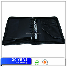 High-end ring binder leather zipper file document case