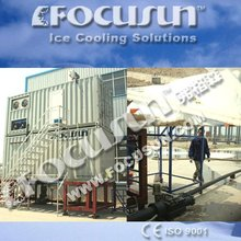 Containerized flake ice snow maker