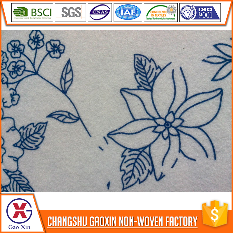 wholesale professional printed polyester felt fabric