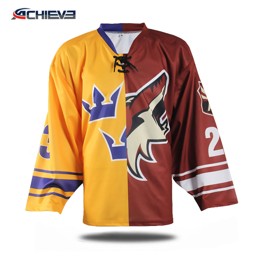 Cheap wholesale Blank custom made ice hockey jerseys manufacturer