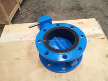 DN300 PN10/16 Ductile Iron Rubber Lined Flange Butterfly Valve 12 Inch