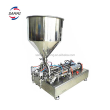Full Pheumatic Double heads Cream Paste Filling Machine (50-500ml),very precisely