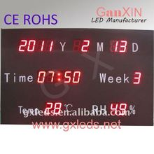 with certificate CE High quality alibaba express the newest 2011 wall clock with temperature display