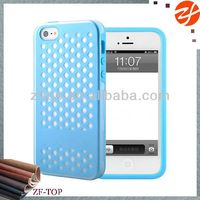 Transparent PC cover+soft TPU cover for iphone 5,for iphone 5s back shell