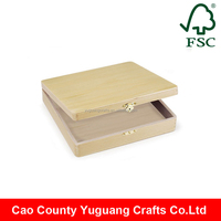 Factory Custom Wood Box Unfinished Wooden Craft Box Wholesale