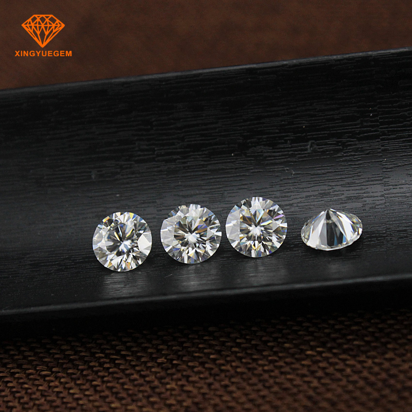 High quality factory low rate sells solid white synthetic gems DEF GHI Moissanite